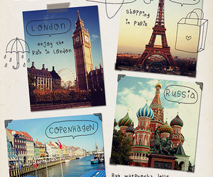 paris, travel, and london image