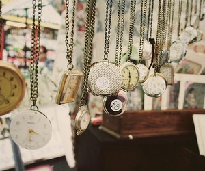 pocket watch, vintage, and watch image