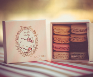 hello kitty, macaroons, and sweet image