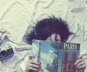 paris, girl, and book image