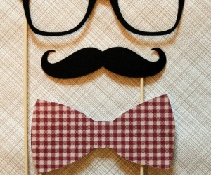 cute, mustache, and glasses image