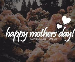 mother, love, and flowers image