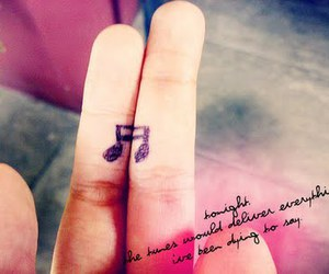 music, fingers, and quote image