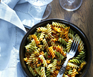 eat, pasta, and food image
