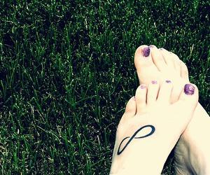 foot, infinite, and nail image