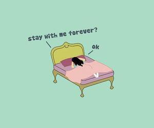 bed, sleep, and forever image