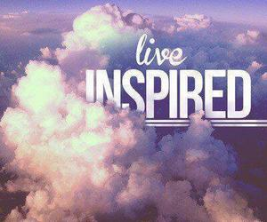 live, inspired, and clouds image