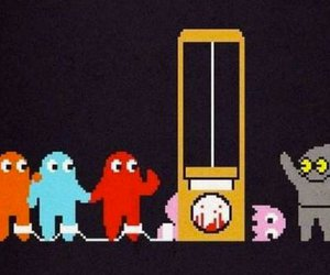 death, ghosts, and pacman image