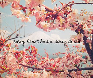 flowers, heart, and story image