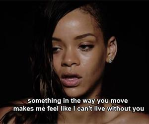 rihanna, stay, and quotes image