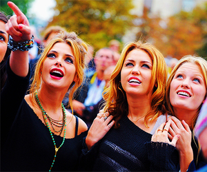 miley cyrus, ashley greene, and lol image