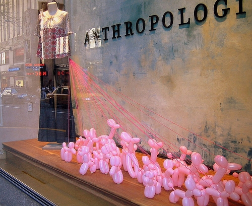 storefront, window display, and anthrpologie image