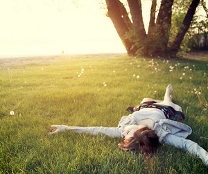 girl, grass, and nature image