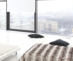 bed, room, and winter image