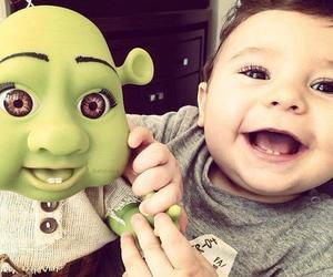 baby, cute, and shrek image