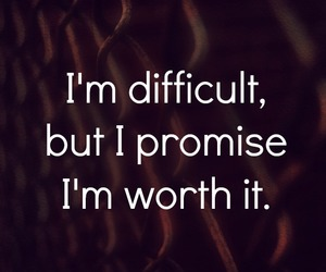 quote, difficult, and feelings image