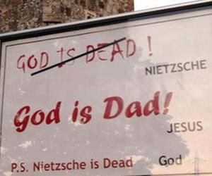 god, jesus, and nietzsche image