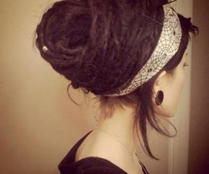 dreads, girl, and dreadlocks image