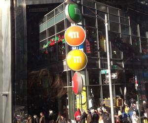 m&m, nyc. new york city, and chocolate store image