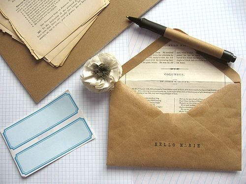 correspondence and letter writing image