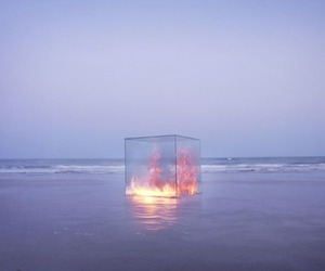 fire, sea, and art image