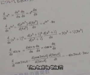math, hell, and school image
