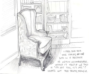 art, illustration, and chair image
