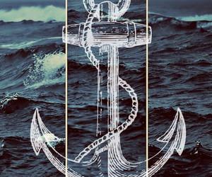 sea, anchor, and ocean image