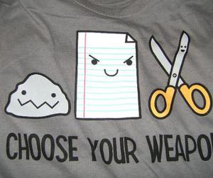 weapon, funny, and Paper image