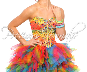 dress, colorful, and pretty image