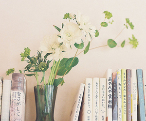 book, flowers, and japan image