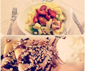 crepes, delicious, and fruit image