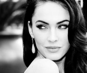 megan fox, black and white, and eyes image