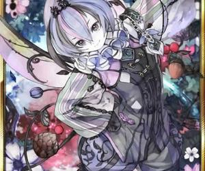 anime, flowers, and magic image