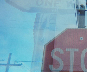 one way, signs, and 35mm image