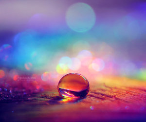 rainbow and water image