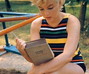 Marilyn Monroe, book, and marilyn image