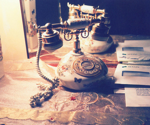 vintage, telephone, and phone image