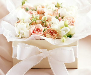bow, flowers, and bows image