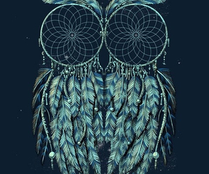 owl, Dream, and blue image