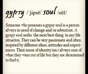 gypsy, quote, and soul image