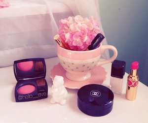 blush, chanel, and cosmetics image
