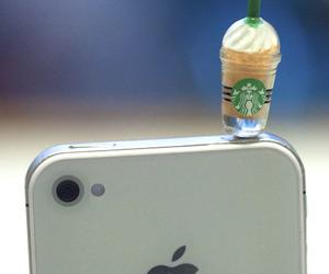 starbucks, iphone, and apple image