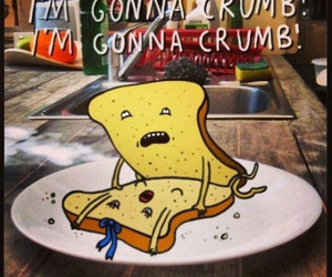 boy, laughing, and crumb image