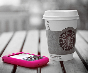 blackberry, pink, and starbucks image