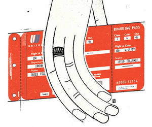 engaged, boarding pass, and united airline image