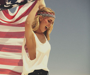 america, girl, and hipster image