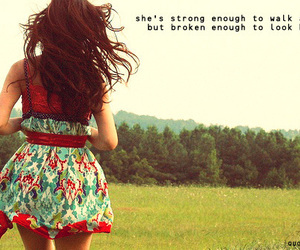 girl, quote, and dress image