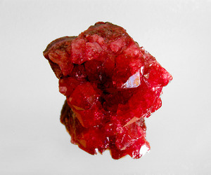 crystal, rock, and red image