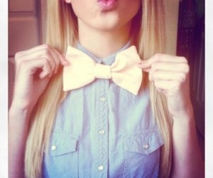bow, hair, and blonde image